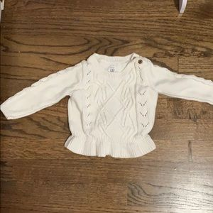 Baby Gap peplum sweater